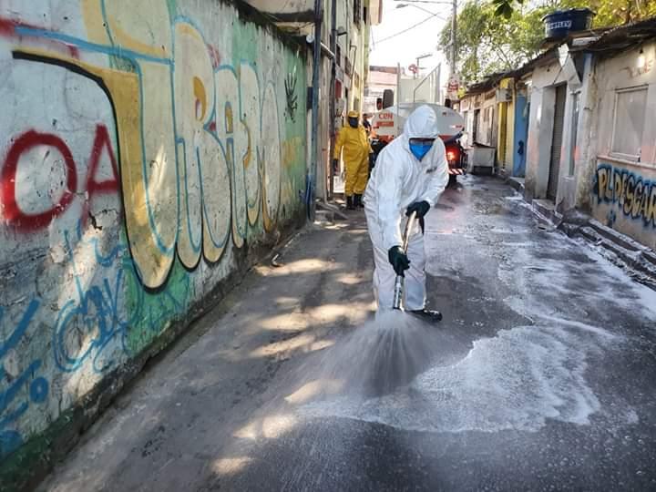 Higienização nas ruas e comunidades de Niterói