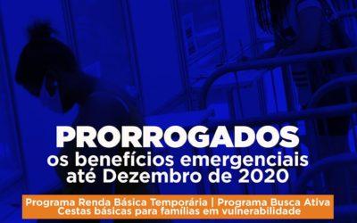 Auxílios emergenciais da Prefeitura de Niterói são prorrogados até dezembro de 2020
