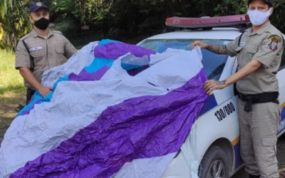Guarda Municipal apreende balão na Região Oceânica de Niterói